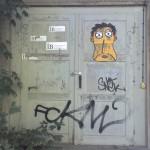 Tür-Marke Frontansicht