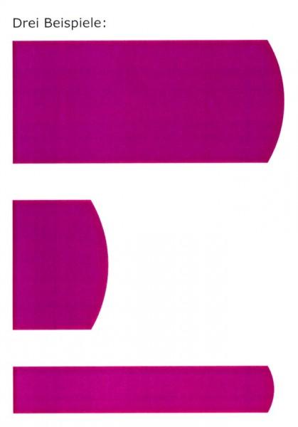 Kombination einer farbigen Abbildung mit drei beispielhaften Figuren