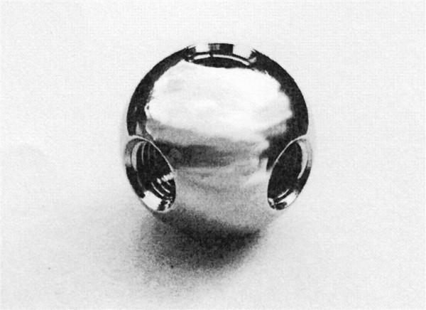 Verbindungselement in Kugelform mit Innengewinde