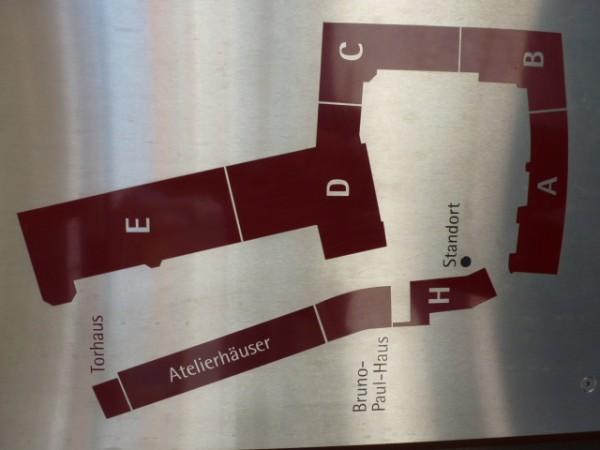 Grundriß GebäudeEnsemble Deutsche Werkstätten Hellerau
