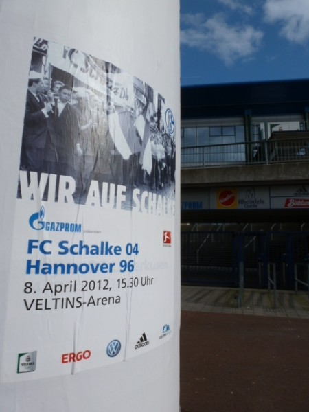 Plakat Schalke 04 - Hannover 96