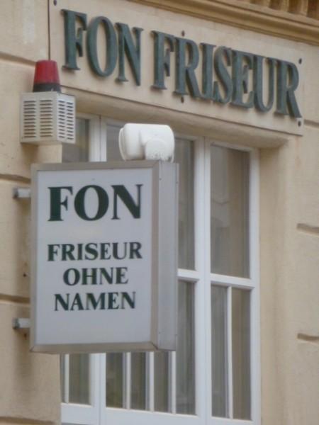 FON FRISEUR OHNE NAMEN