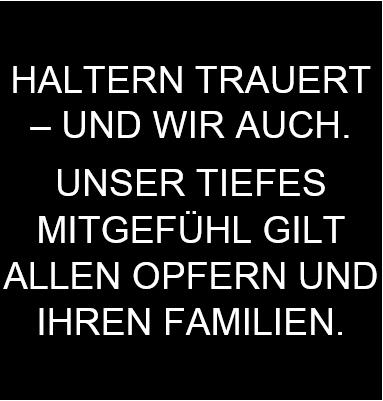 HALTERN TRAUERT
