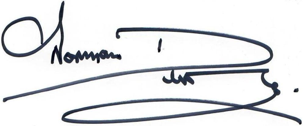 Unterschrift mit Pfiff
